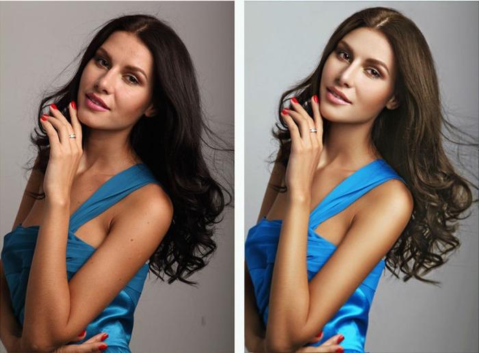 Ps摄影后期修图教程:打造时尚封面美女人像 天